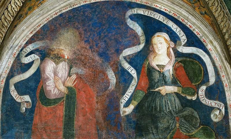 Isaiah and the Hellespontic Sibyl. Pinturicchio (Bernardino di Betto)