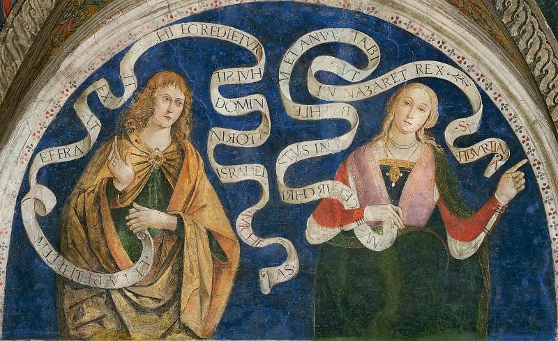 Micah and the Tiburtine Sibyl. Pinturicchio (Bernardino di Betto)