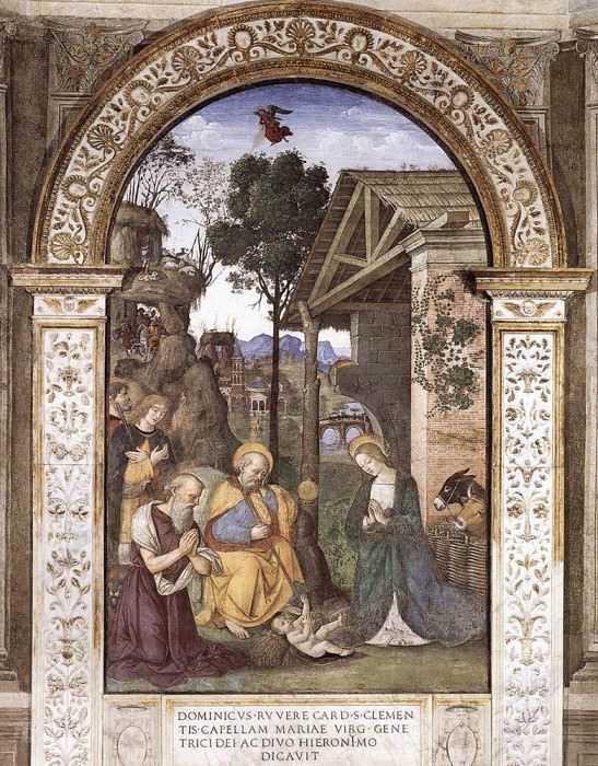 Adoration Of The Christ Child. Pinturicchio (Bernardino di Betto)