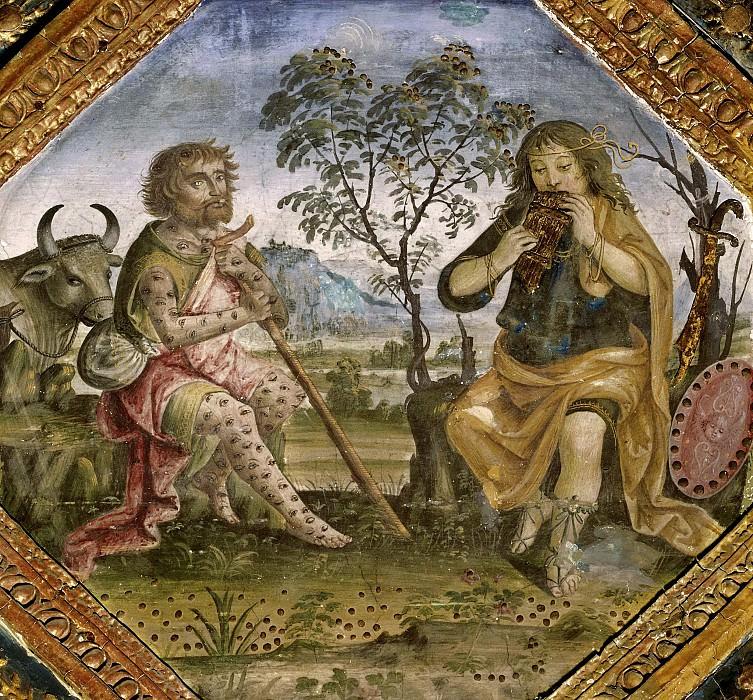 Io, Argus and Mercury. Pinturicchio (Bernardino di Betto)