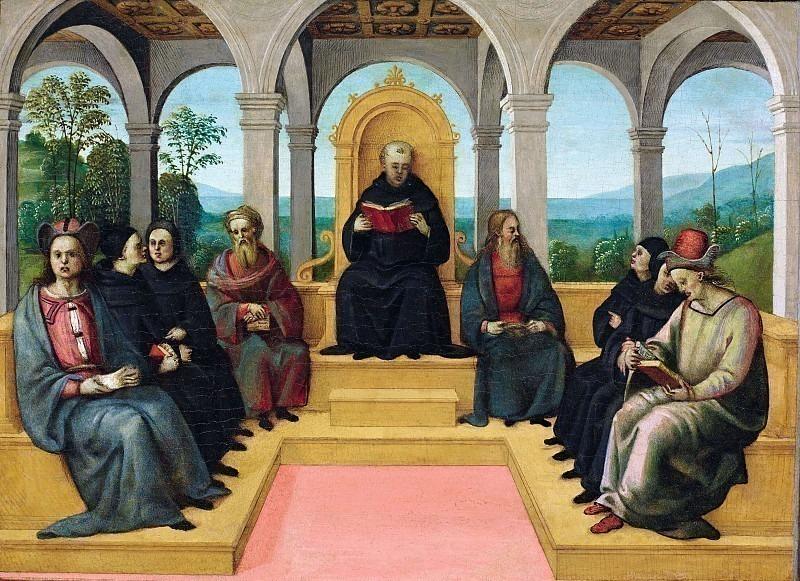 Спор святого Августина. Пинтуриккьо (Бернардино ди Бетто) (Мастерская)
