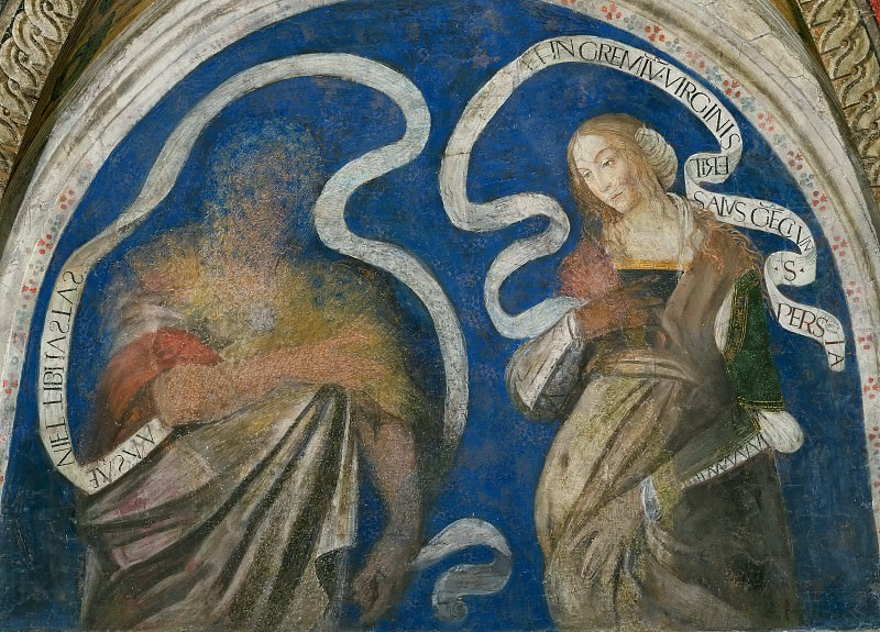 The Prophet Zachariah and the Persian Sibyl. Pinturicchio (Bernardino di Betto)