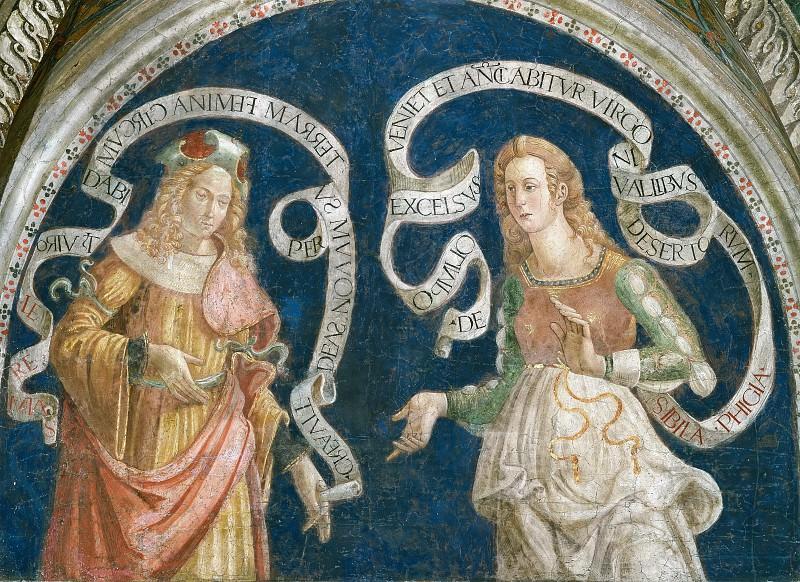 The Prophet Jeremiah and the Phrygian Sibyl. Pinturicchio (Bernardino di Betto)