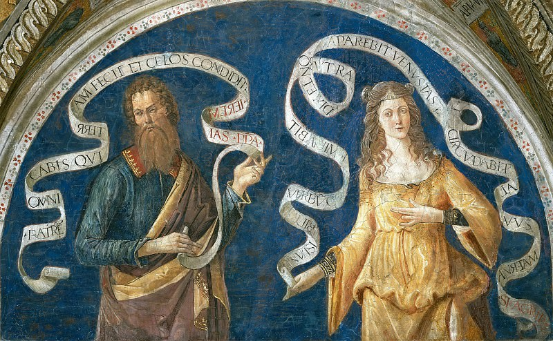 Prophet and Agrippine Sibyl. Pinturicchio (Bernardino di Betto)