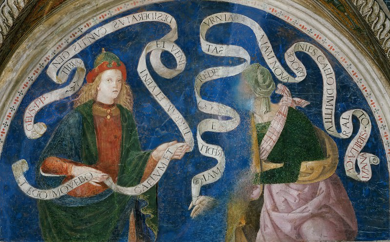 The Prophet Haggai and the Cumaean Sibyl. Pinturicchio (Bernardino di Betto)
