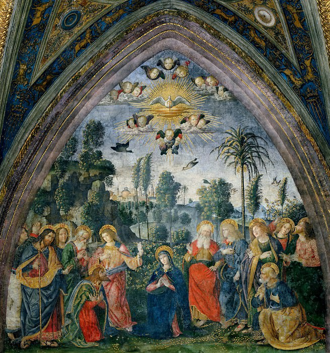 The Descent of the Holy Spirit. Pinturicchio (Bernardino di Betto)