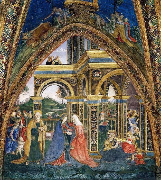 Встреча Марии и Елизаветы. Пинтуриккьо (Бернардино ди Бетто)