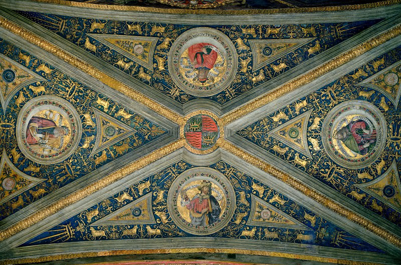 Prophets David, Isaiah, Solomon, and Malachias. Pinturicchio (Bernardino di Betto)