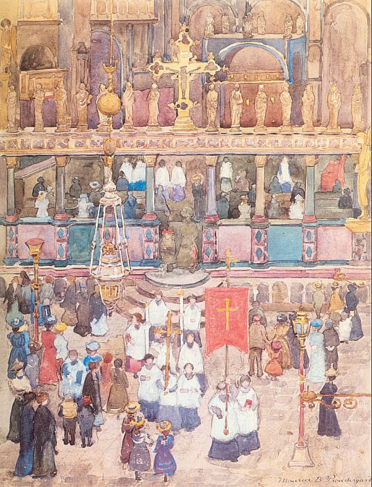 Шествие у собора Св. Марка. Морис Брэзил Прендергаст