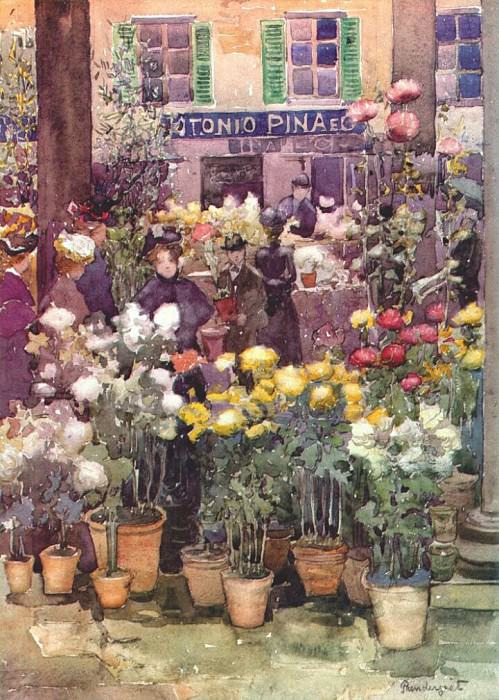 prendergast italian flower market 1898. Maurice Prendergast