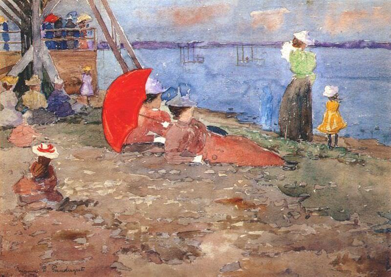 prendergast revere beach 1896. Maurice Prendergast