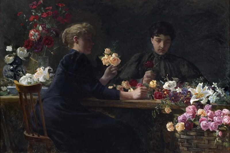 Ladies at a Flower-table. Wilhelm Peters
