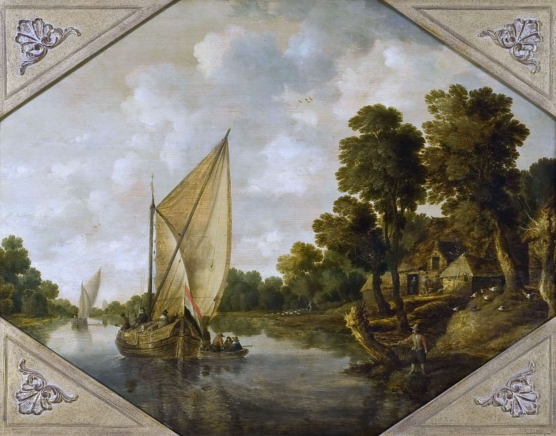 River Landscape. Bonaventura Peeters The Elder