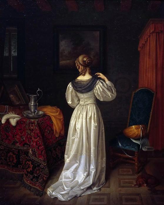 The toilet of a lady. Eduard Karl Gustav Lebrecht Pistorius