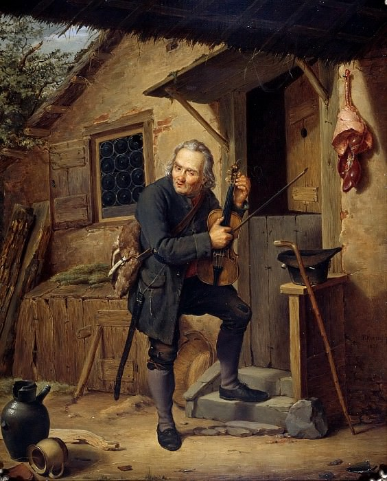 The village violinist. Eduard Karl Gustav Lebrecht Pistorius