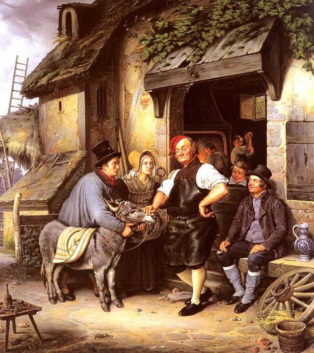 A Vist To The Farriers. Eduard Karl Gustav Lebrecht Pistorius