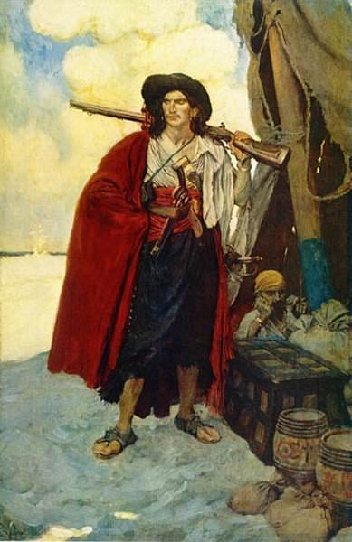 The Pirate was a Picturesque Fellow. Howard Pyle