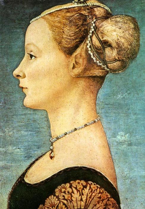 Portrait Of A Girl. Antonio del Pollaiolo