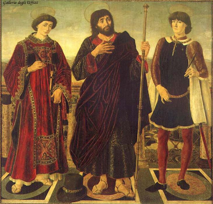 Altarpiece Of The SS Vincent James And Eustace. Antonio del Pollaiolo