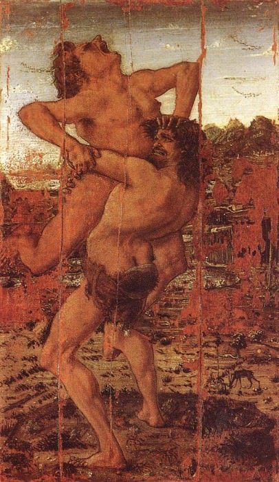 Hercules And Antaeus. Antonio del Pollaiolo