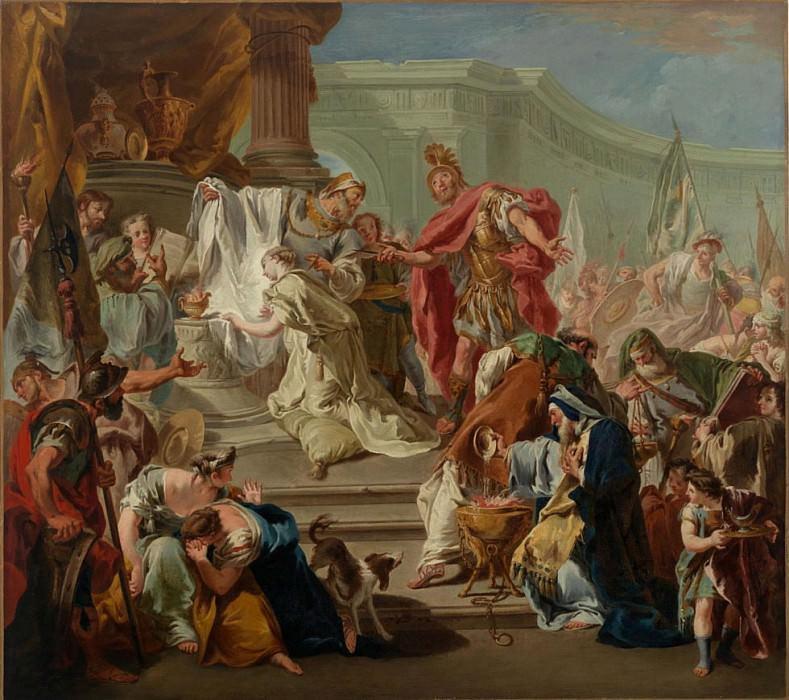 The Sacrifice of the Daughter of Jepthah. Giovanni Battista Pittoni
