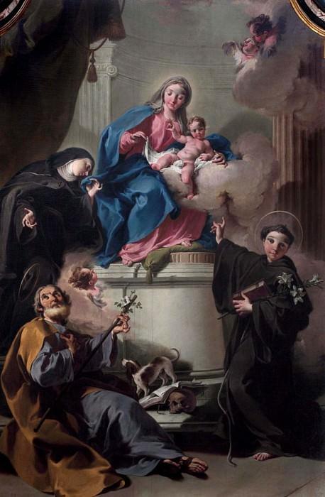 Madonna and Child with Saints Joseph, Margaret of Cortona, Anthony of Padua. Giovanni Battista Pittoni