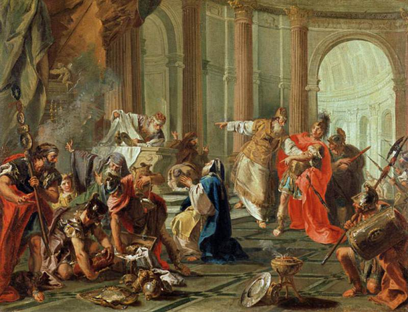 Crassus Ransacks the Temple of Jerusalem. Giovanni Battista Pittoni