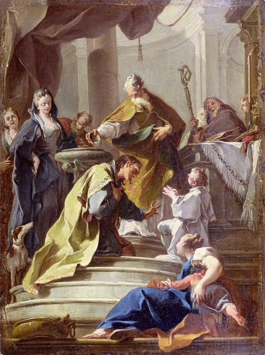 St. Prosdocimus Baptising St. Daniel. Джованни Баттиста Питтони