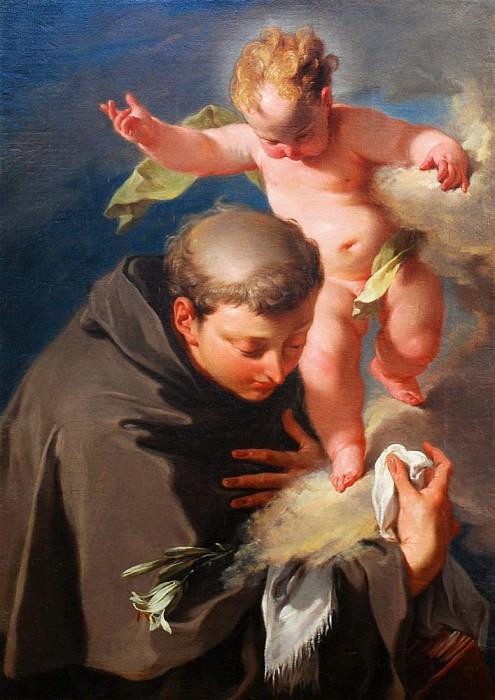 The Vision of Saint Anthony of Padua. Giovanni Battista Pittoni