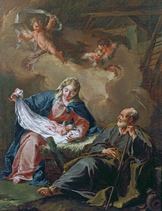 The Holy Family. Giovanni Battista Pittoni
