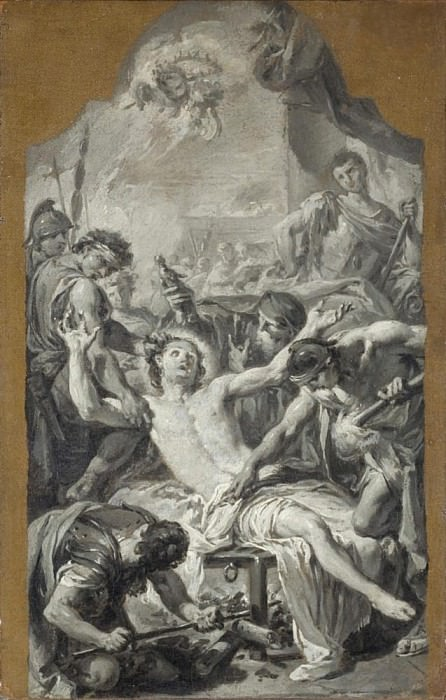 Sketch of the Martyrdom of St. Lawrence. Giovanni Battista Pittoni