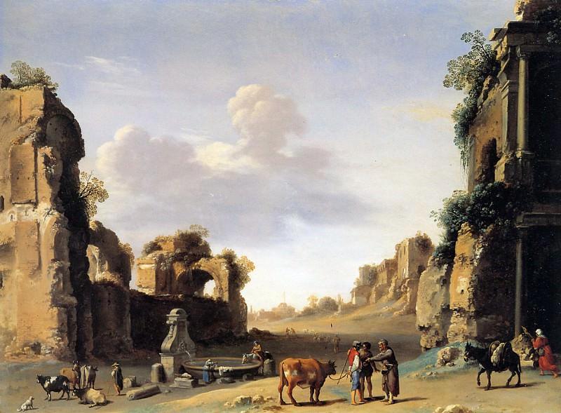 Cornelis Campo Vaccino. Cornelis Van Poelenburgh