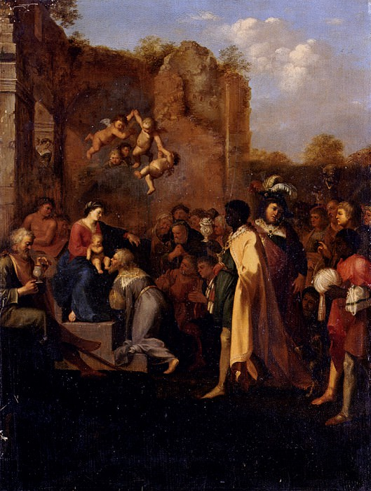 Adoration Of The Magi. Cornelis Van Poelenburgh