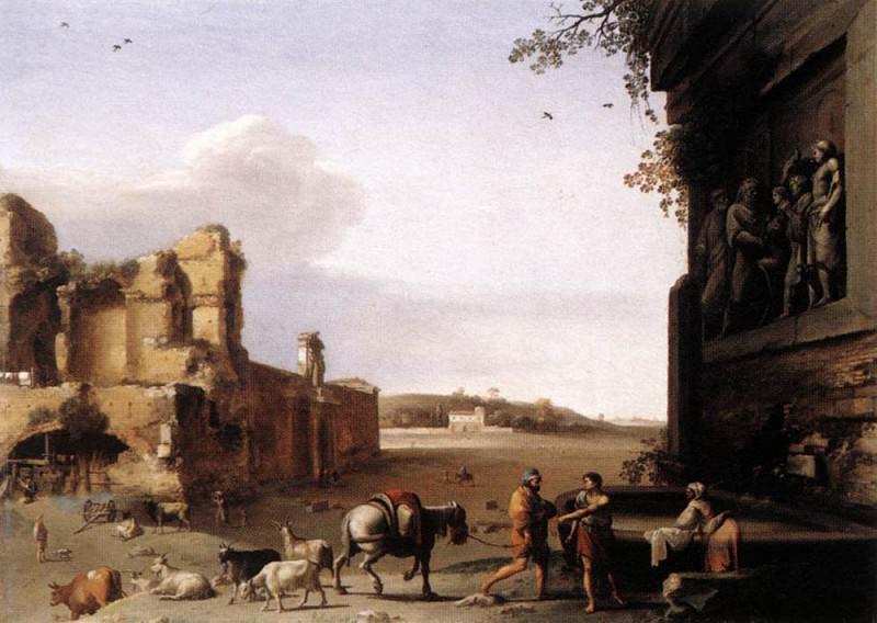 Ruins Of Ancient Rome. Cornelis Van Poelenburgh