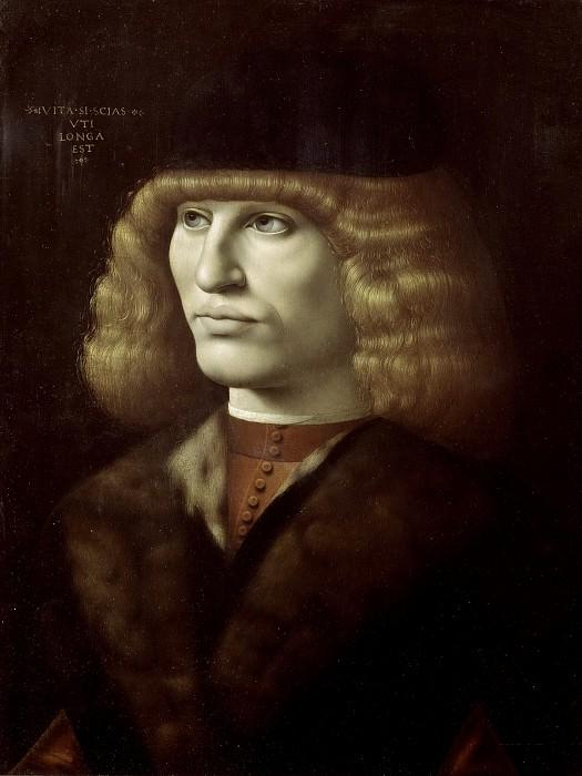 Portrait of a Young Man. Giovanni Ambrogio de Predis