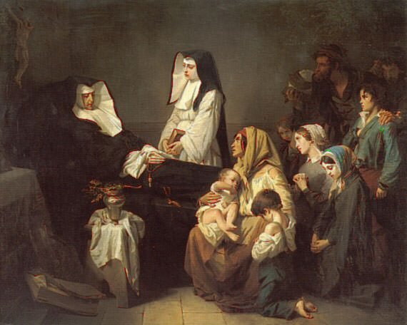 The Death of a Sister of Charity. Isidore Pils