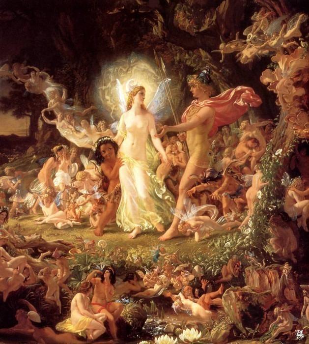 The Quarrel of Oberon and Titania. Sir Joseph Noel Paton