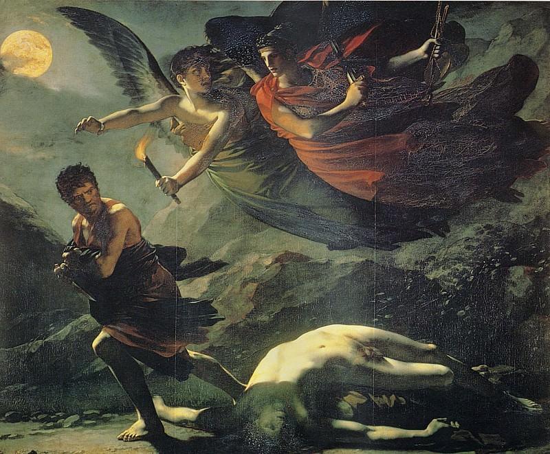 Justice and Divine Vengeance Pursuing Crime. Pierre-Paul Prudhon
