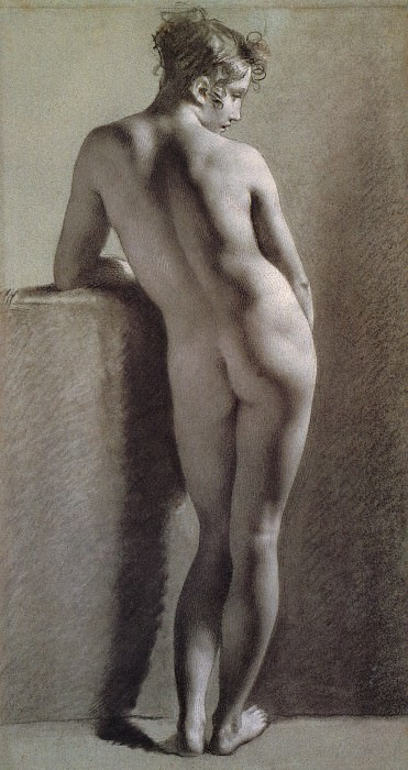 Standing Female Nude Seen from the Back. Pierre-Paul Prudhon