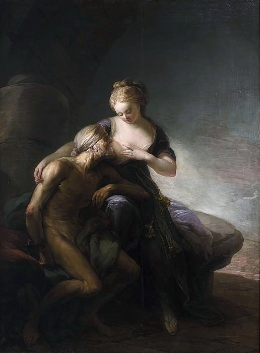 Caritas Romana. Allegory of Love. Carl Gustaf Pilo