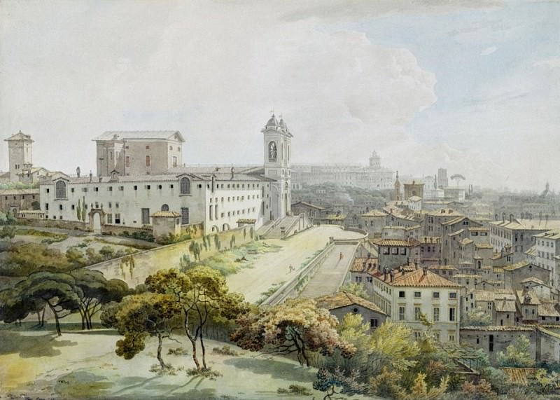 A View of Rome taken from the Pincio. William Pars