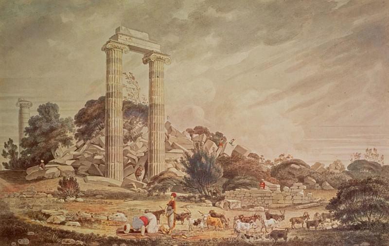 Temple of Apollo at Didyma. William Pars
