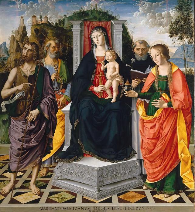Madonna and Child with Saints. Marco Palmezzano