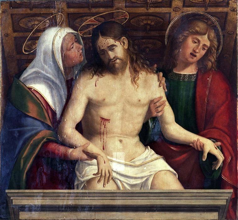 Мёртвый Христос между Марией и Иоанном Богословом (Бербенский полиптих). Андреа Превитали (Кордельяги)