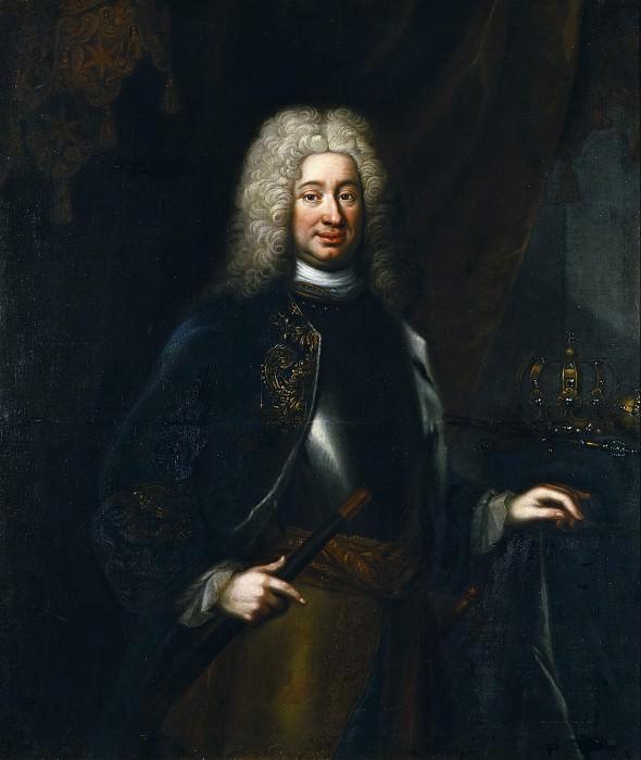 Fredrik I (1676-1751), King of Sweden, Countess of Hesse-Kassel. Lorens Pasch the Elder