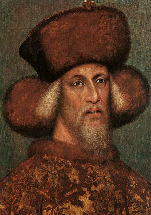 Portrait of the Emperor Sigismund, 1432-33, parchm. Antonio Pisanello