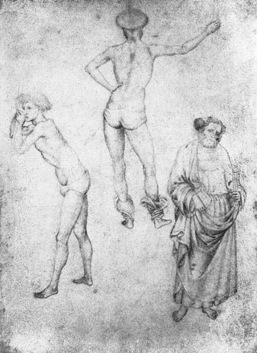 Nude Men And St Peter. Antonio Pisanello