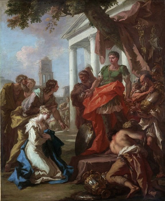 The Continence of Scipio. Giovanni Antonio Pellegrini
