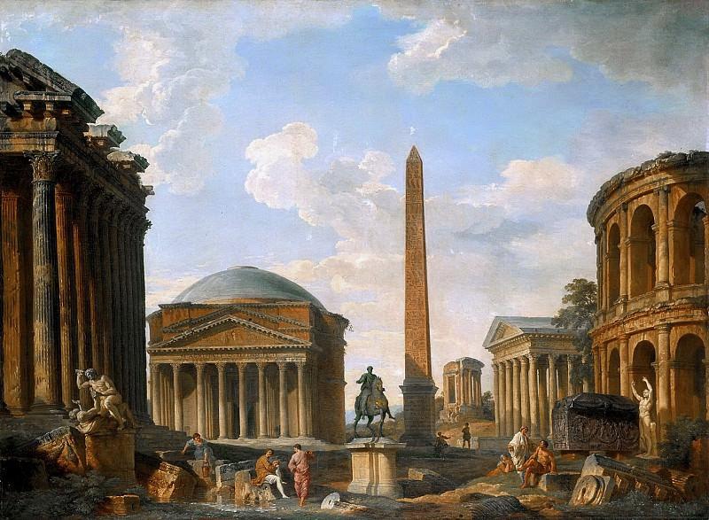 Roman Capriccio, 1735. Giovanni Paolo Panini