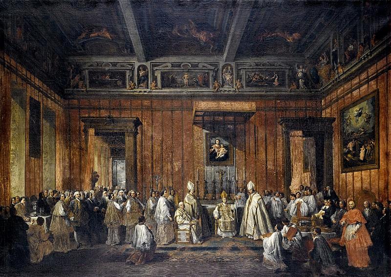 Церемония представления папы Бенедикта XIV. Джованни Паоло Панини